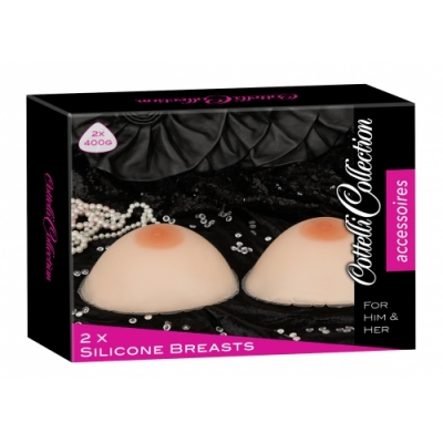 Faux seins silicone - Fausse poitrine triangle Cottelli 2x400g